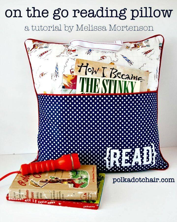 DIY On The Go Reading Pillow - DIY Gift Ideas