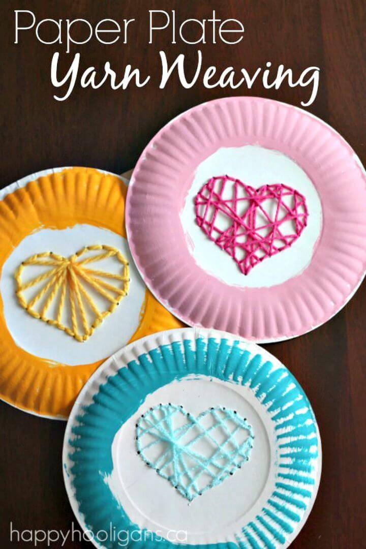 DIY Paper Plate Yarn Weaving Activity for Kids