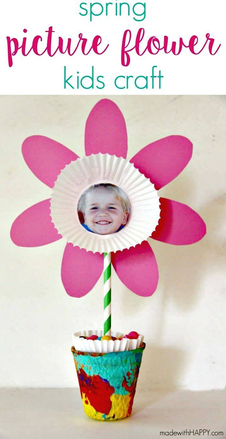 How to Make Picture Flower Kids Craft