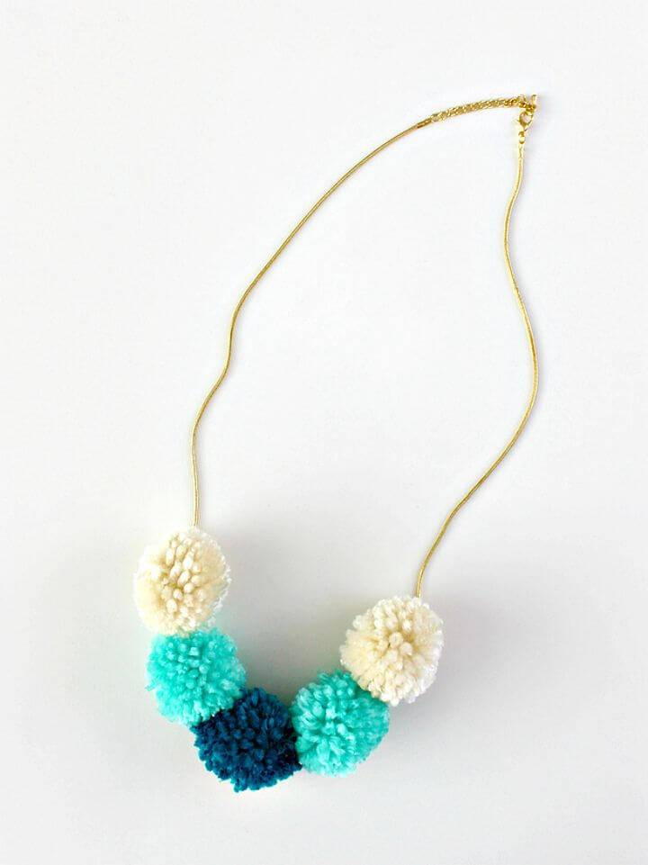 How to DIY Pom Pom Necklace
