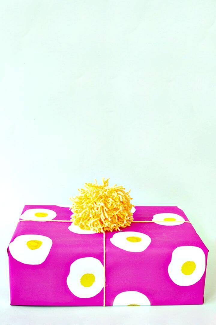 DIY Printable Egg Wrapping Paper