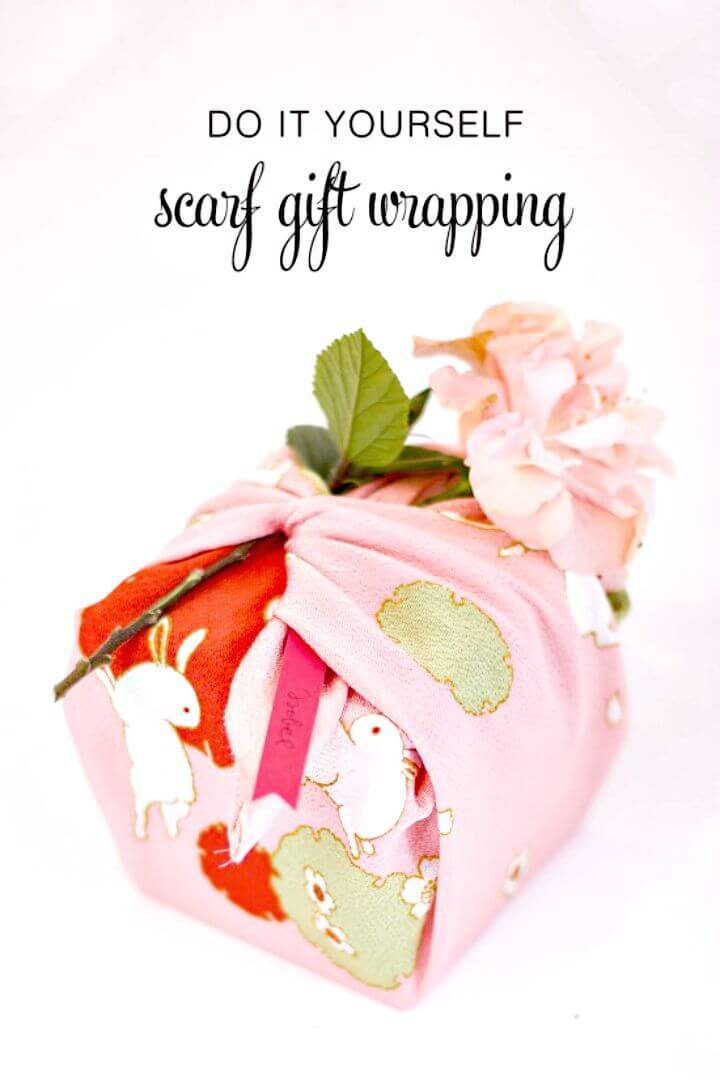 DIY Scarf Gift Wrapping Tutorial