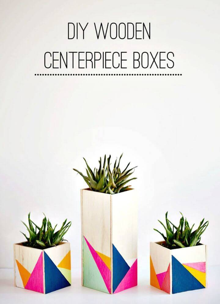 Gorgeous DIY Wooden Centerpiece Boxes