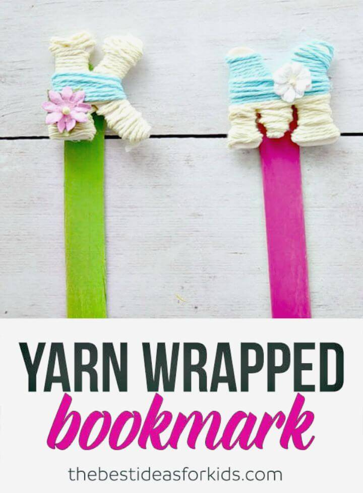 Easy to Make Yarn Wrapped Letter Bookmarks