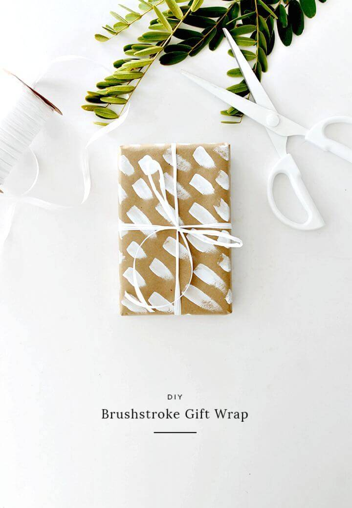 DIY Brushstroke Gift Wrap
