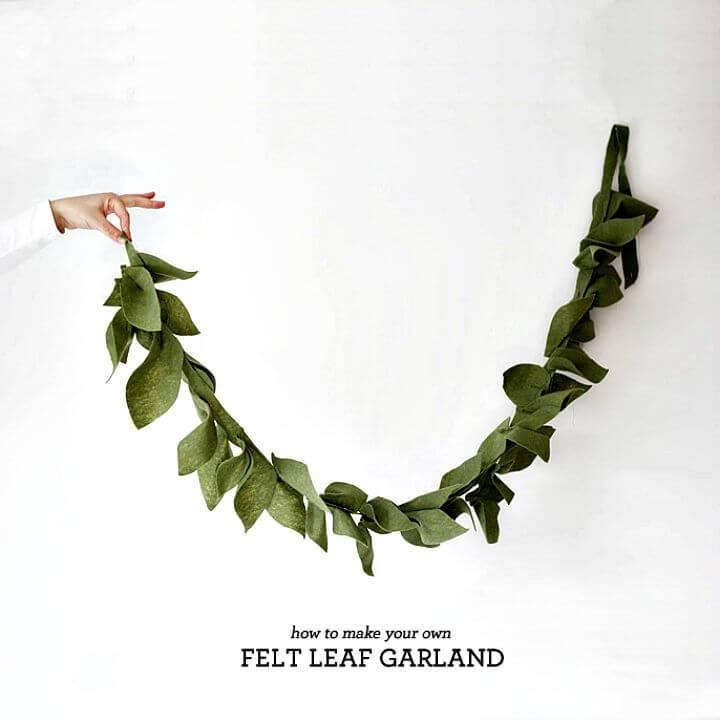 How to Make Felt Leaf Garland - DIY