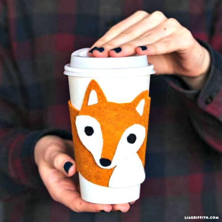Easy DIY Fox Cup Cozy