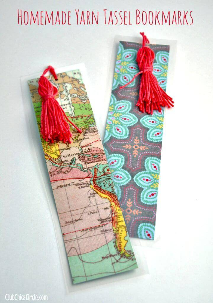 DIY Homemade Tassel Bookmarks