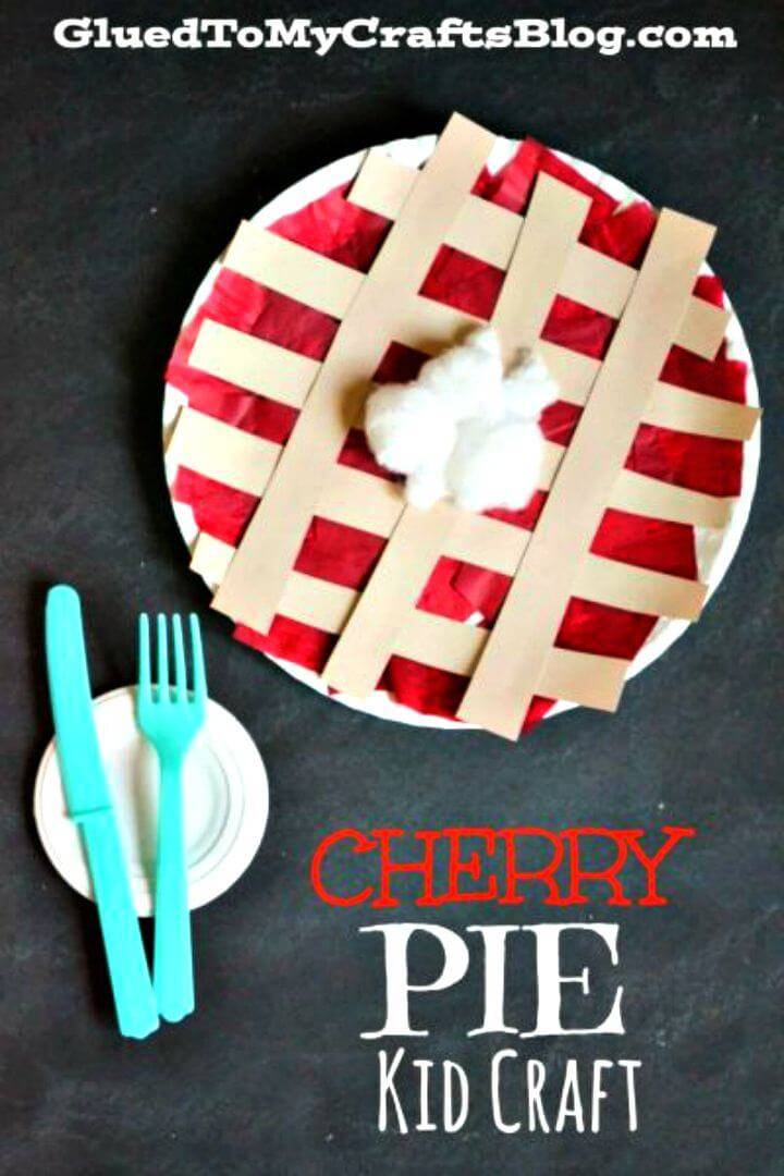 Easy DIY Paper Plate Cherry Pie