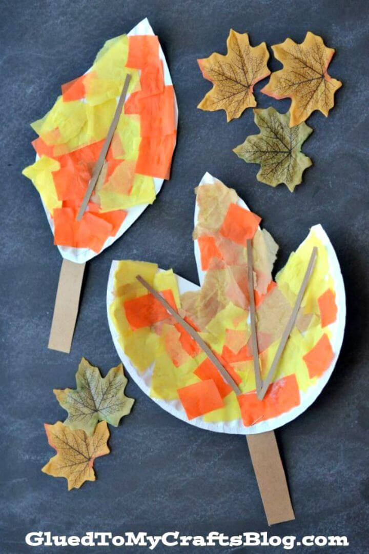 Make Your Own Paper Plate Leaf - DIY