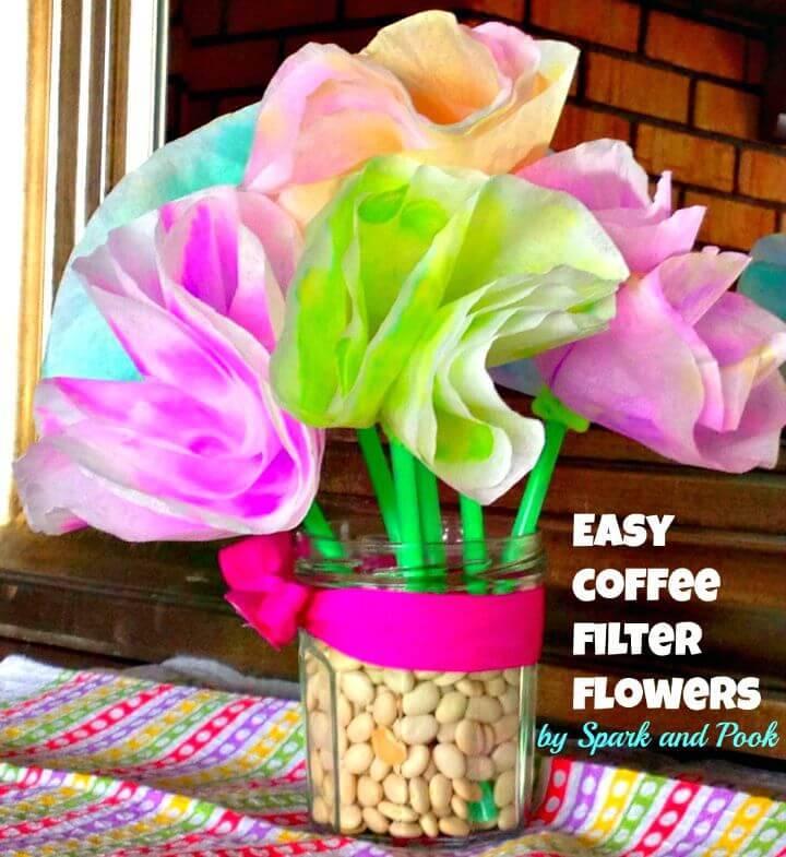 DIY Toddler Coffee Filter Flowers