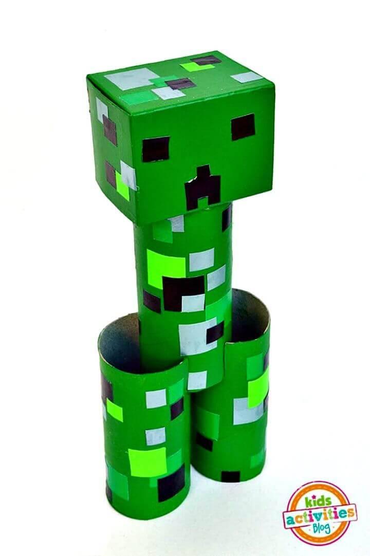 DIY Toilet Roll Minecraft Creeper