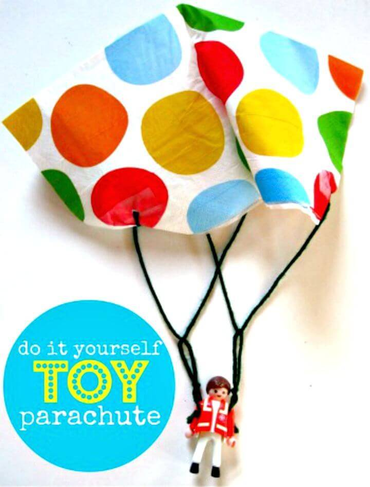 Colorful DIY Toy Parachute Craft