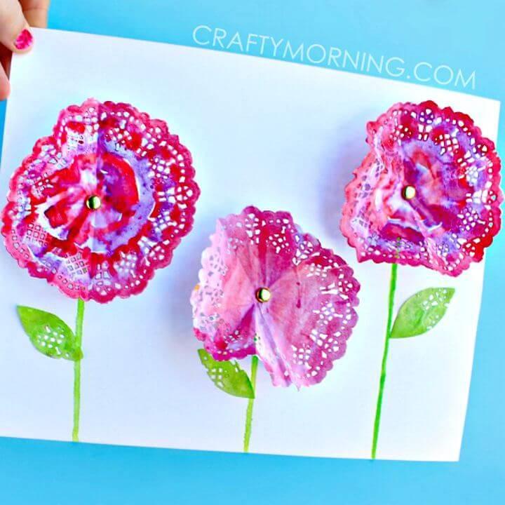How To Make 3D Doily Flowers -Free DIY Tutorial