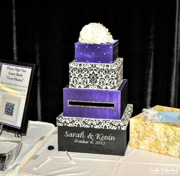 Easy DIY Tier Fabric Covered Wedding Card Box