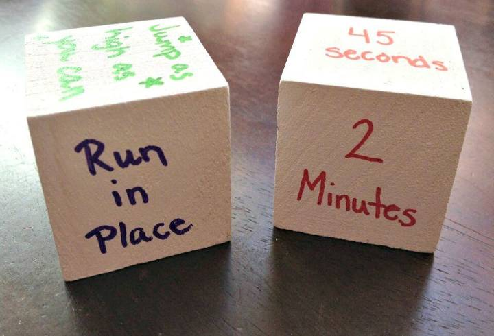 Easy To Make Activity Wooden Dice for Kids - DIY