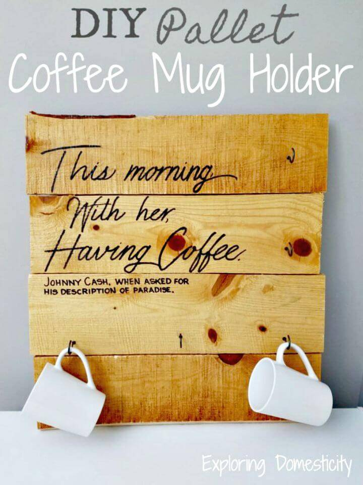 Build Pallet Coffee Mug Holder - DIY Gift Ideas