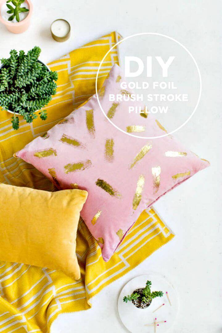 How To Make Gold Foil Pillow - DIY