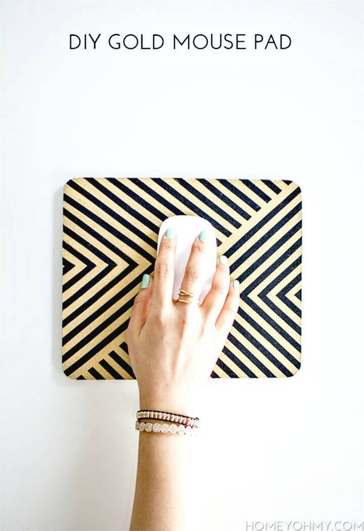 Quick Gold Mouse Pad - Last Minute DIY Gift