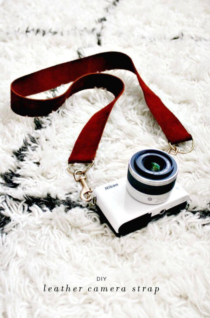 Make Leather Camera Strap - Last Minute DIY Gift