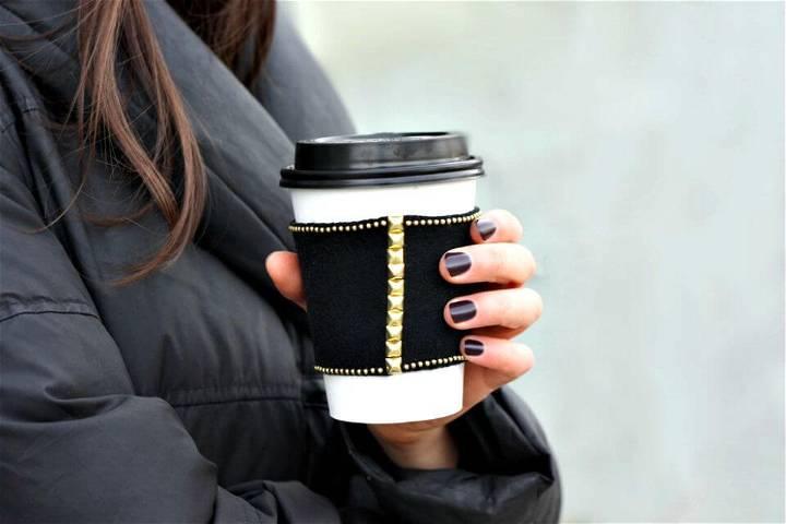 Adorable DIY Slate Coffee Sleeve