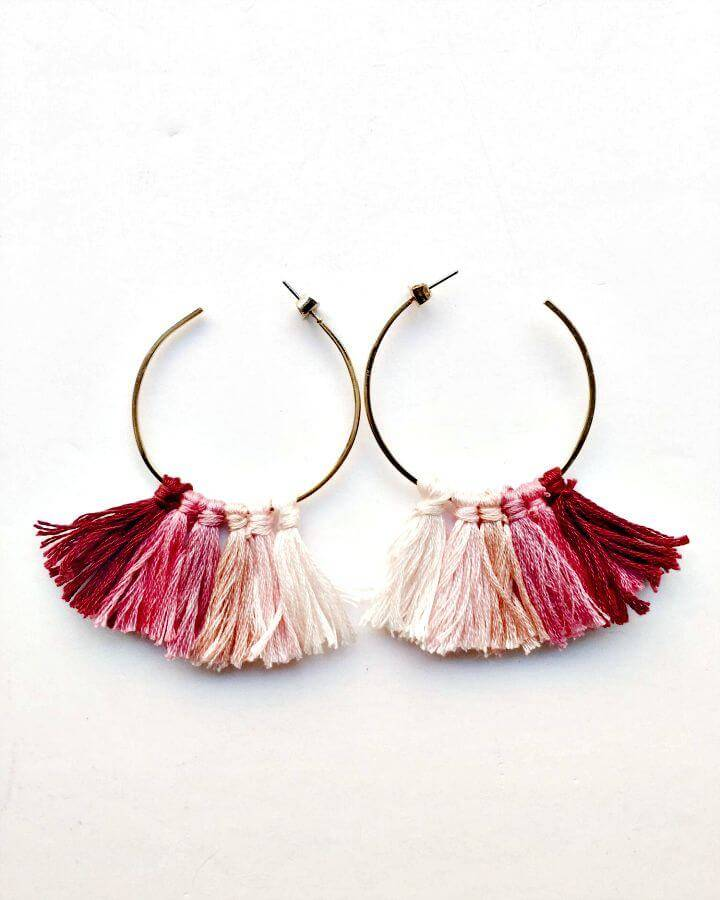 Cute DIY Tassel Earrings