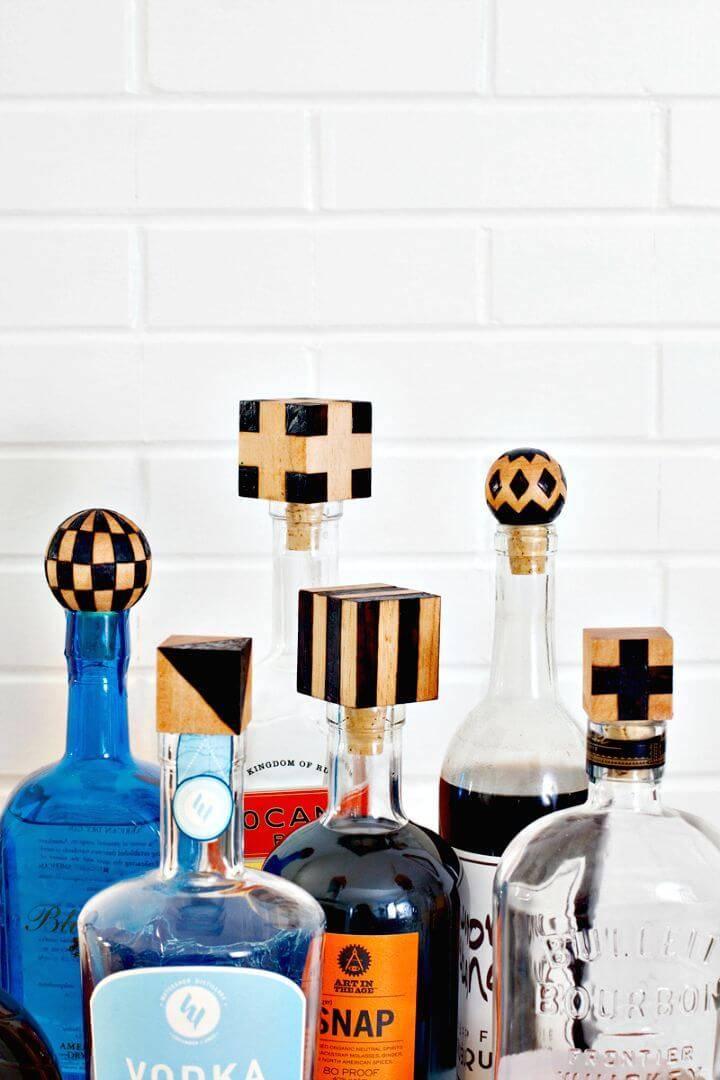 Easy To Make Wood Burned Bottle Stoppers - DIY