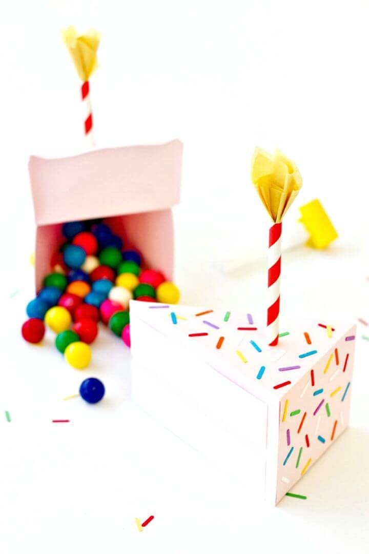 How To DIY Birthday Cake Box