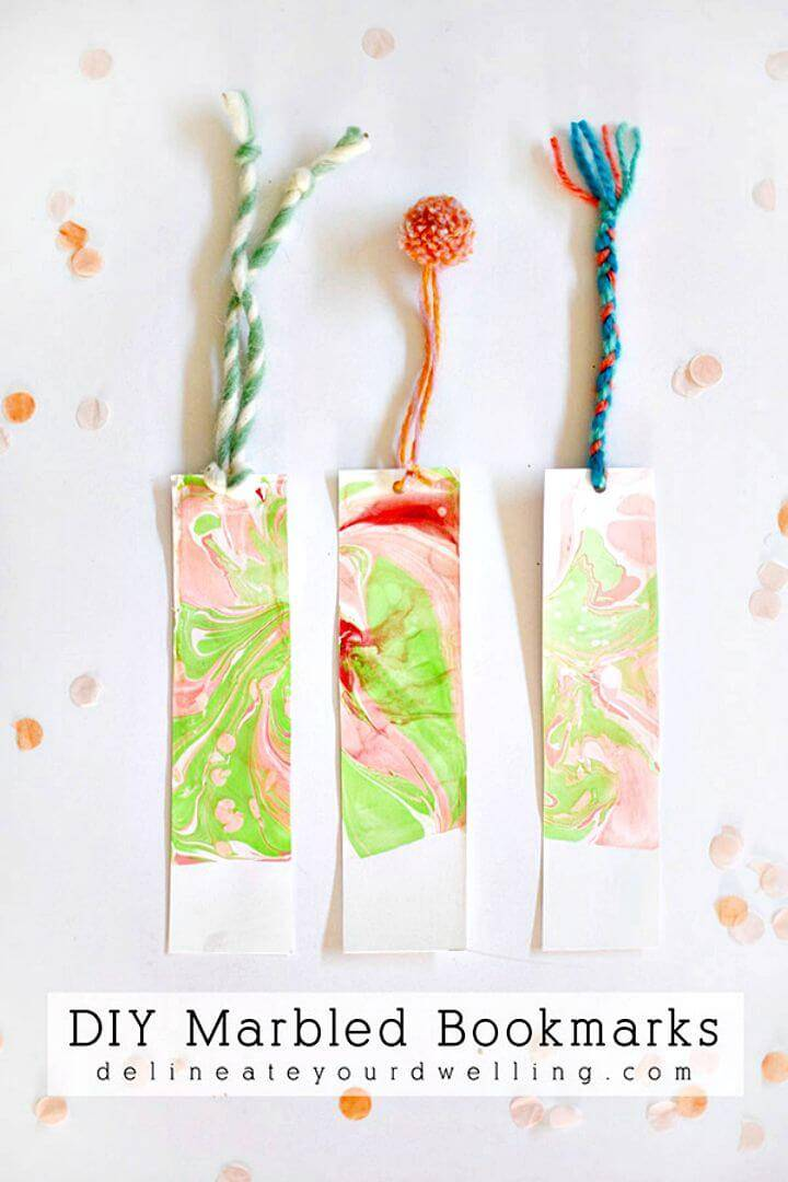 How to Make Marble Bookmarks