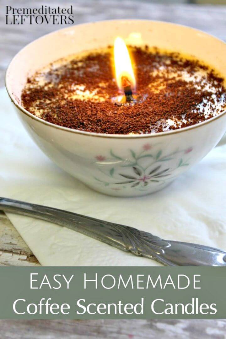 DIY Coffee Scented Candles - Gift & Craft Ideas