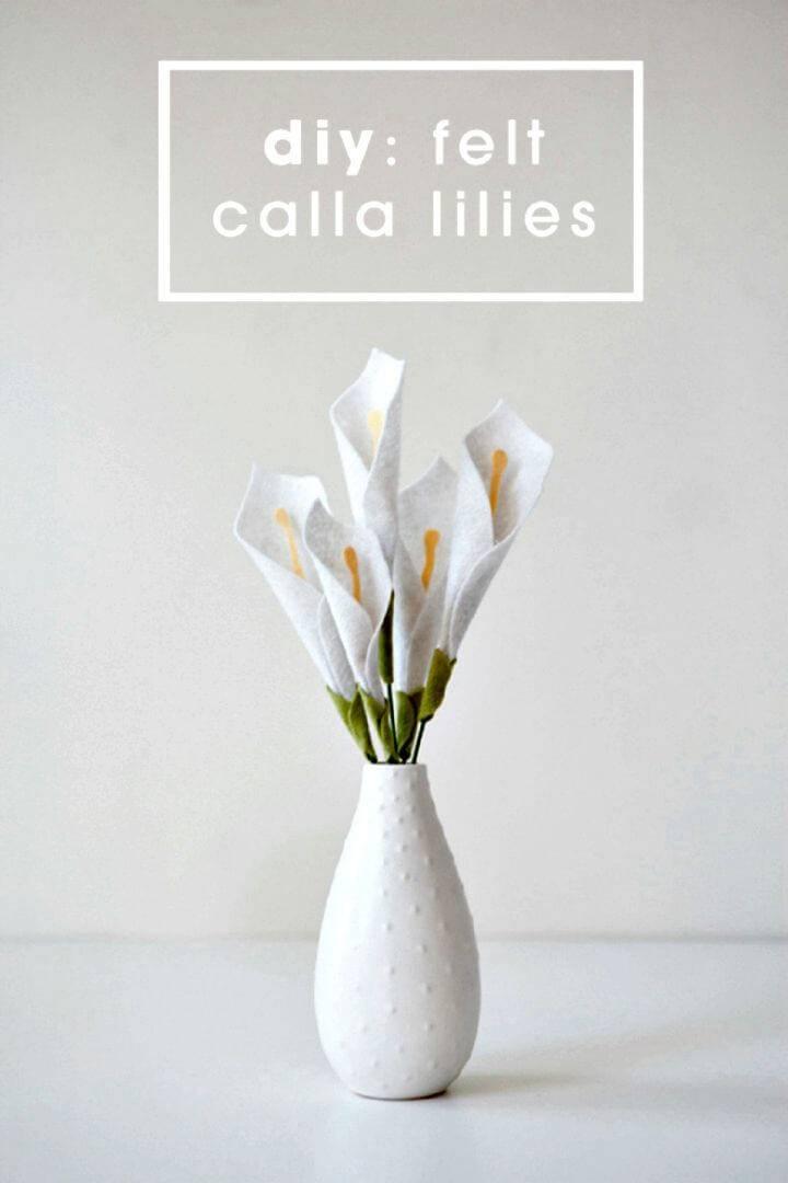 How To Make Felt Calla Lily - DIY