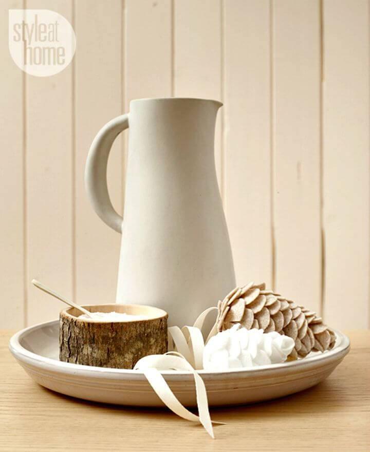 How To Make Felt Pinecones - DIY