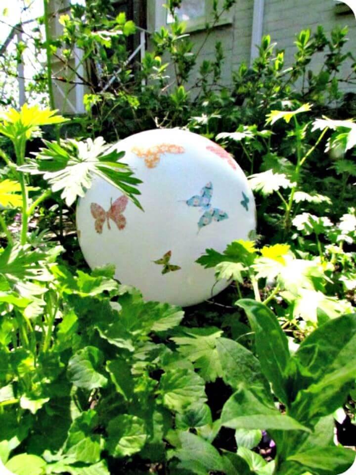 Simple DIY Garden Gazing Ball