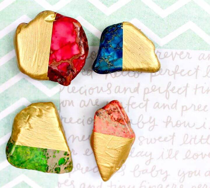 How To Make Gold Dipped Magnets - Last Minute DIY Gift