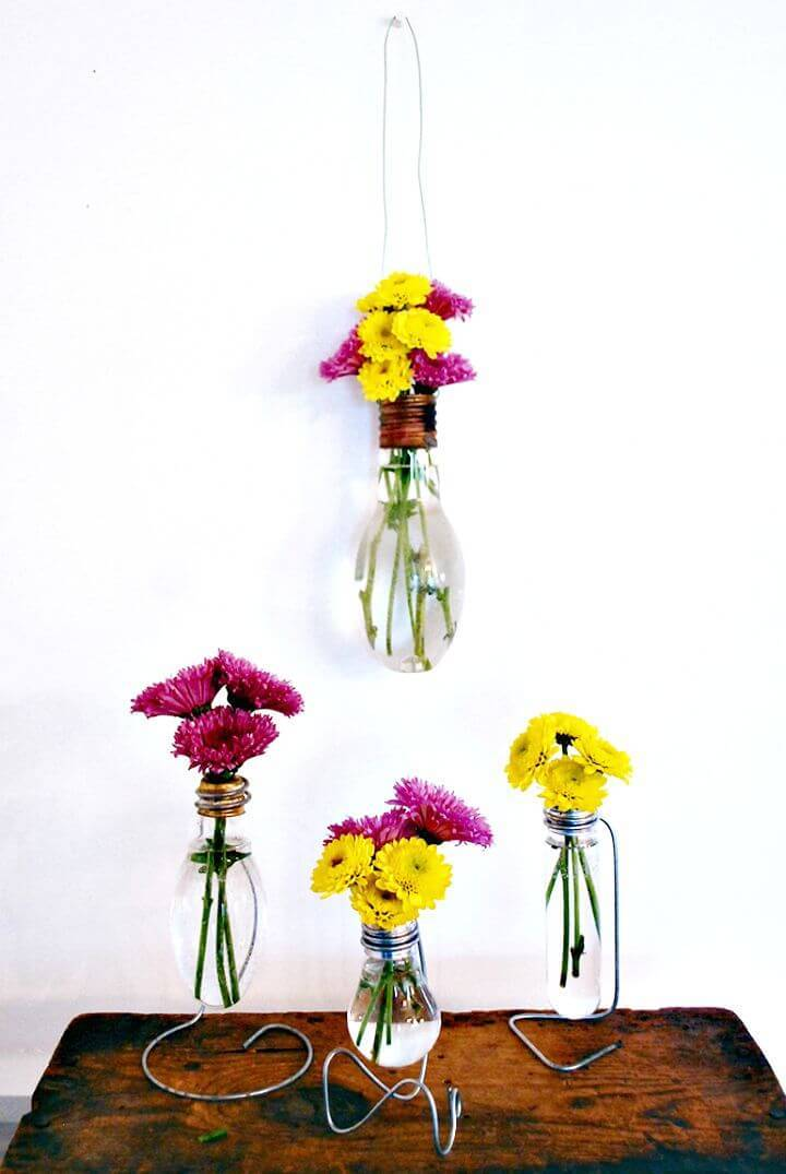 How To Make Light Bulb Vase - DIY