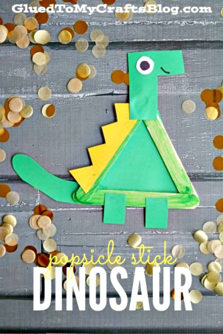 DIY Popsicle Stick Dinosaur