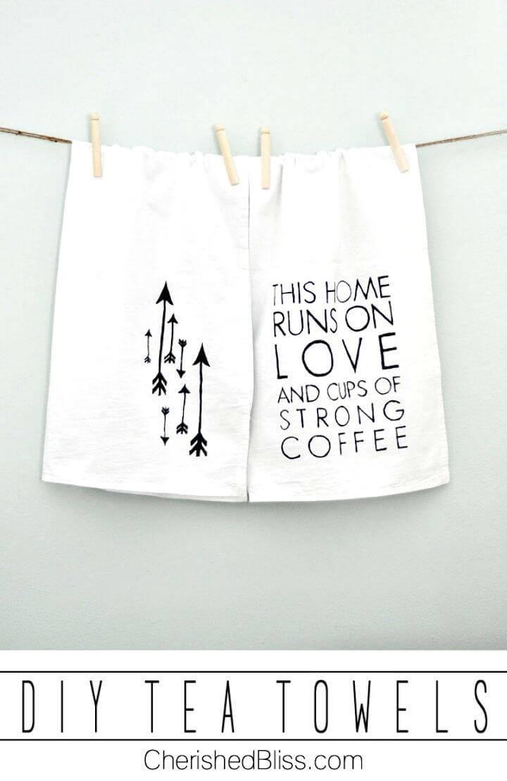 Simple DIY Towels for Coffee Lovers