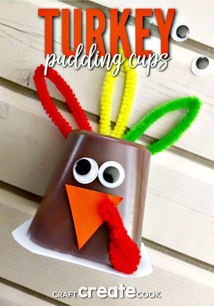 Easy DIY Turkey Pudding Cups