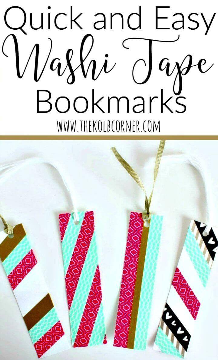 Quick DIY Washi Tape Bookmarks