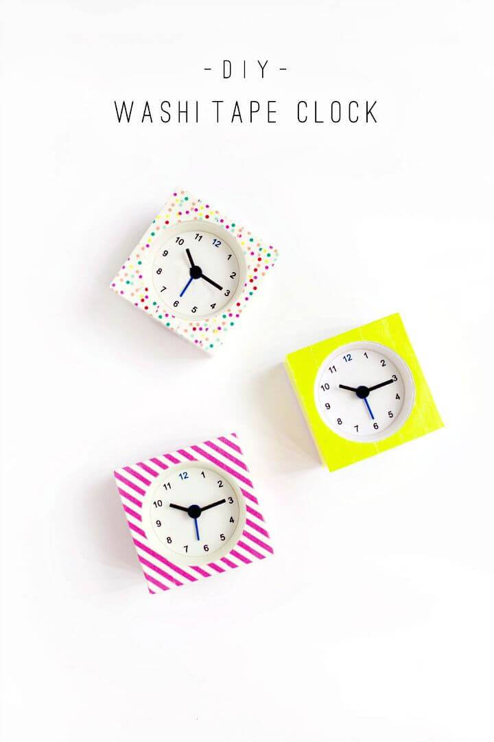 How To Make Washi Tape Clocks - DIY