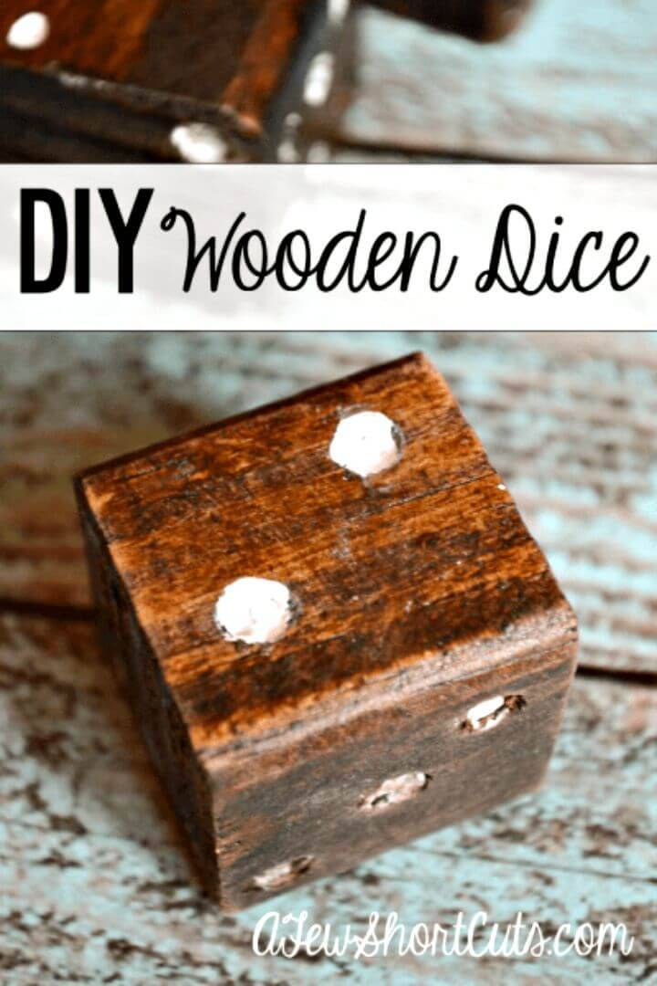 How To Make Wooden Dice - DIY