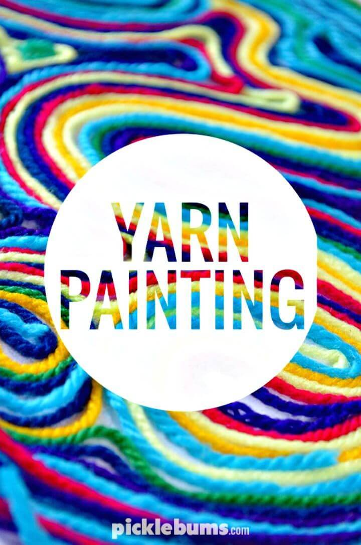 How To Make Yarn Painting