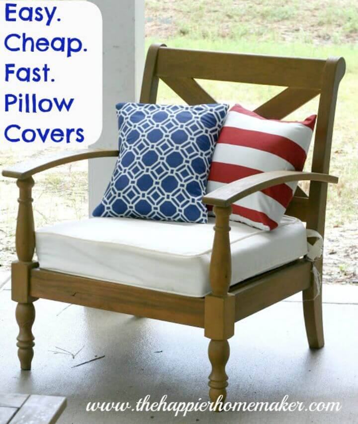 Inexpensive DIY Pillow Covers