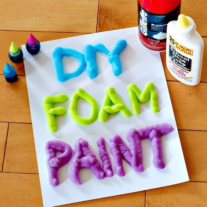 Make 3 Ingredient Foam Paint