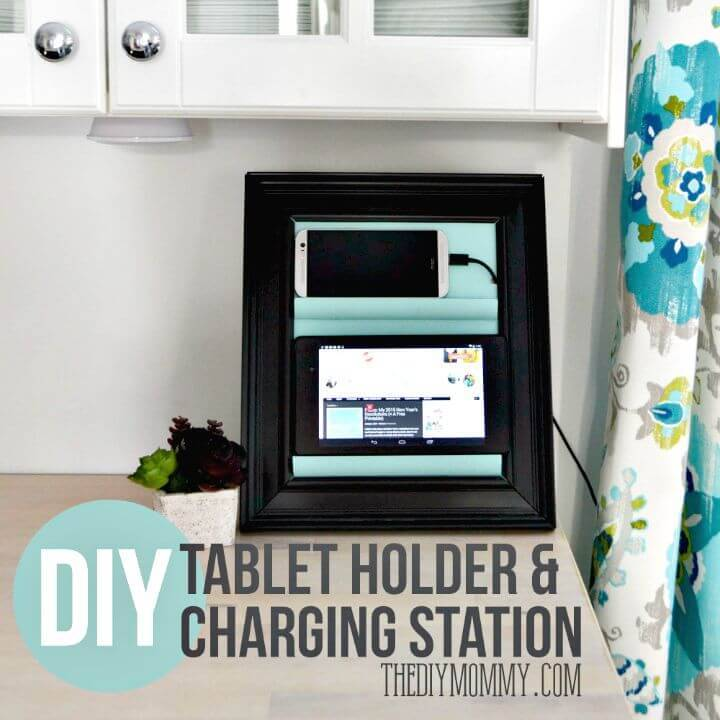 Phone Charging Station from A Picture Frame - DIY Ideas