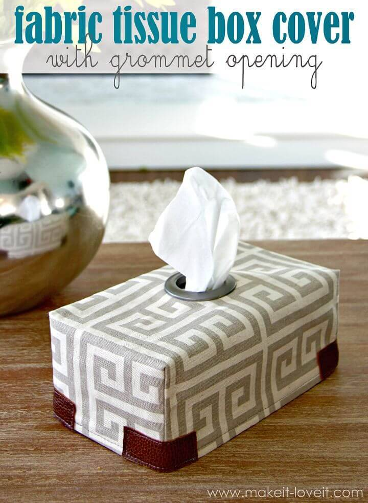 Adorable DIY Fabric Tissue Box Cover