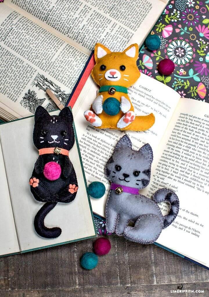 DIY Felt Craft Kittens Gift Ideas