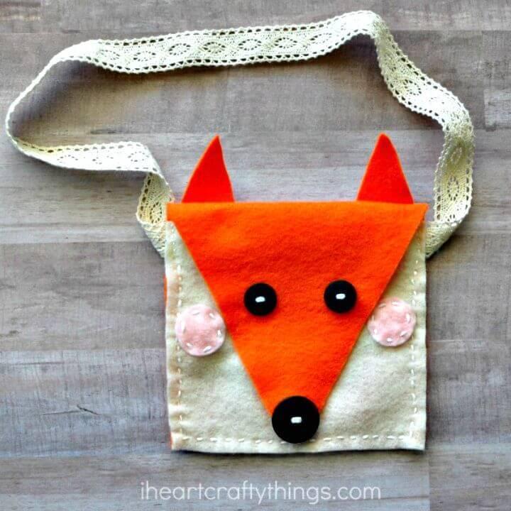 How to Make Felt Fox Purse Kids Sewing Craft