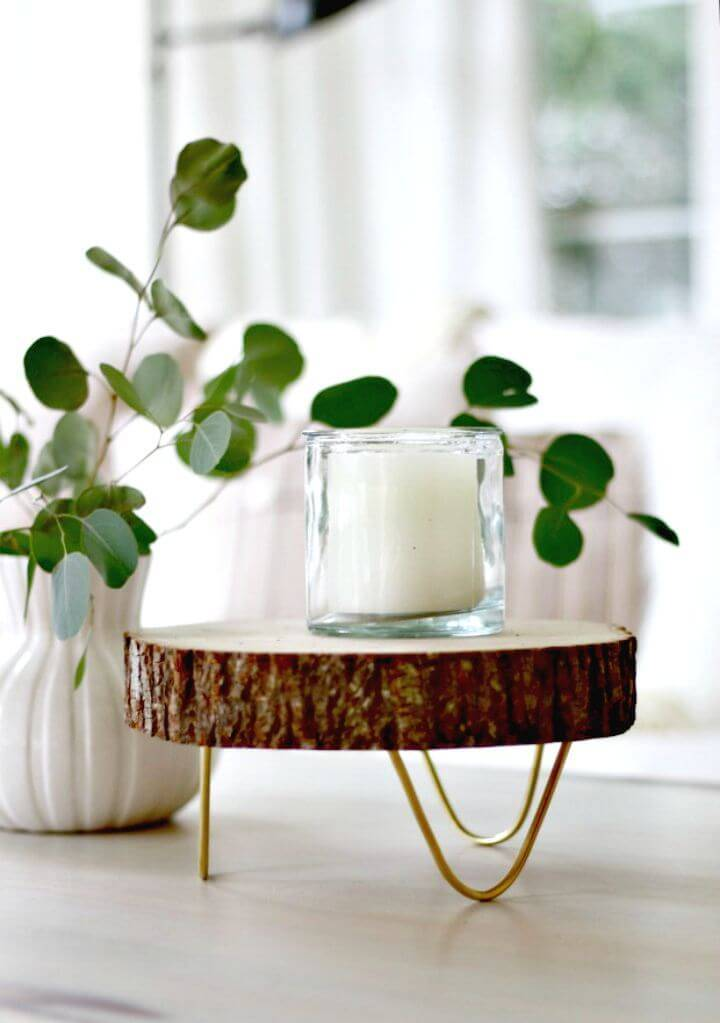 How to Make Footed Wood Slice Tray - DIY