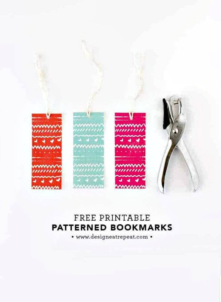 DIY Free Printable Bookmarks